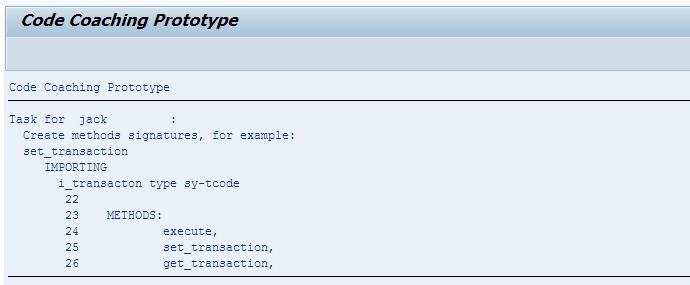 Protótipo do relatório para o Code Coaching