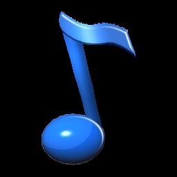nota musical azul