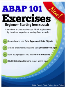 ebook - cover - ABAP 101 Exercises - Beginner - Starting from scratch