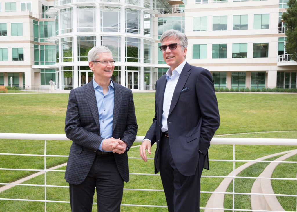 Apple CEO Tim Cook and SAP CEO Bill McDermott